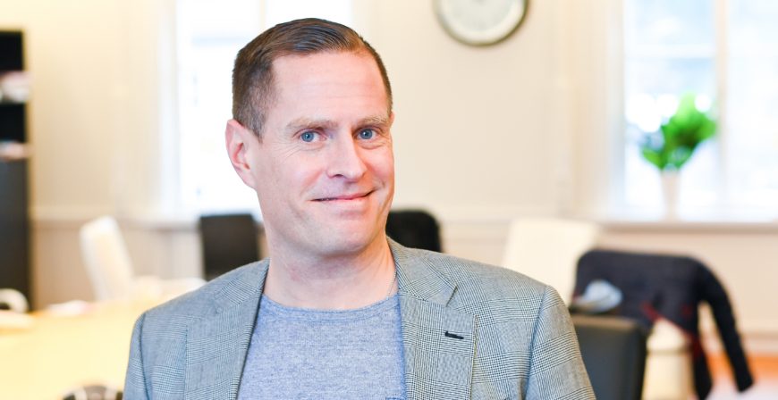 Johan Gnospelius, VD Landa familjevård AB.